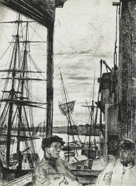 Pier Drawing - Rotherhithe by James Abbott McNeill Whistler