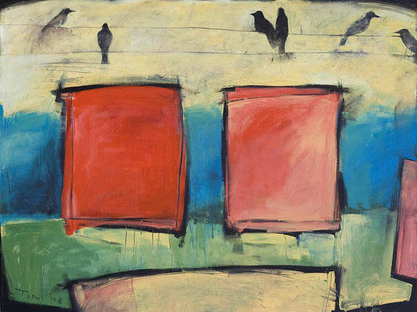 Wall Art - Painting - Rothko Meets Hitchcock by Tim Nyberg