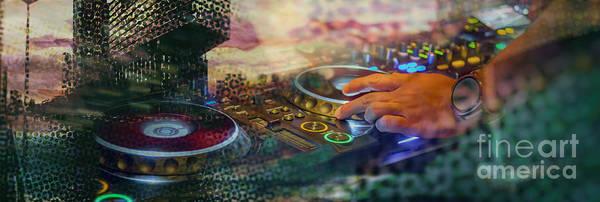 Digital Art - Rotterdam And Dj Music by Ariadna De Raadt