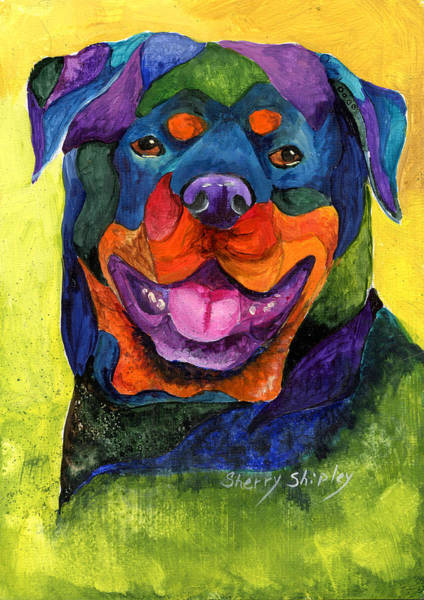 Painting - Rottweiler by Sherry Shipley