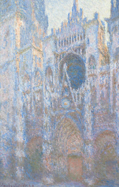 Painting - Rouen Cathedral, West Facade by Claude Monet