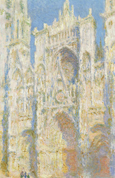 Painting - Rouen Cathedral, West Facade, Sunlight by Claude Monet