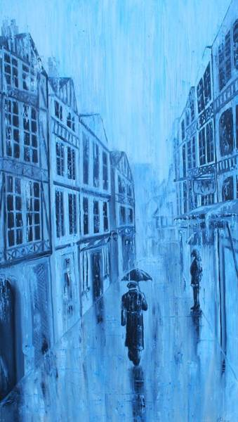 Painting - Rouen In The Rain by Emily Page
