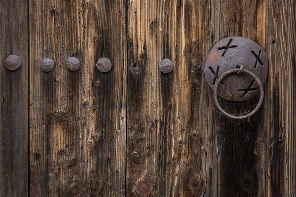 Photograph - Rough And Rusty Vintage Wooden Door by Georgia Mizuleva