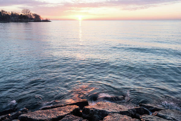 Photograph - Rough And Soft - Silky Water And Hard Rocks At Sunrise by Georgia Mizuleva