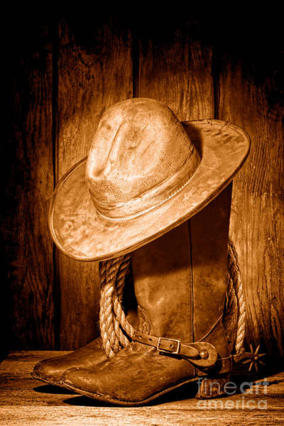 Wall Art - Photograph - Rough Rider - Sepia by Olivier Le Queinec