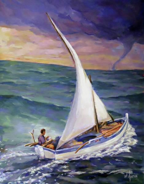 Saltwater Painting - Rough Seas Ahead by Tom Dauria