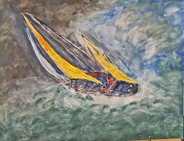 Painting - Rough Seas by Donald Paczynski