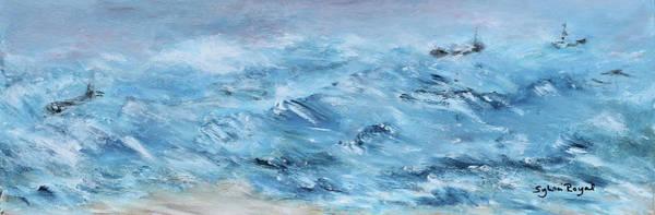 Wall Art - Painting - Rough Seas by Sylvia Royal