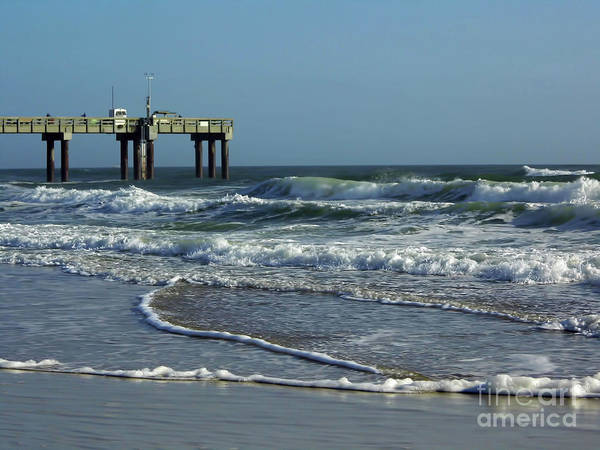 Photograph - Rough Surf After Sunrise by D Hackett