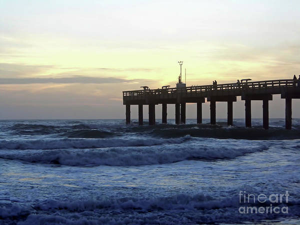 Photograph - Rough Surf At Sunrise by D Hackett