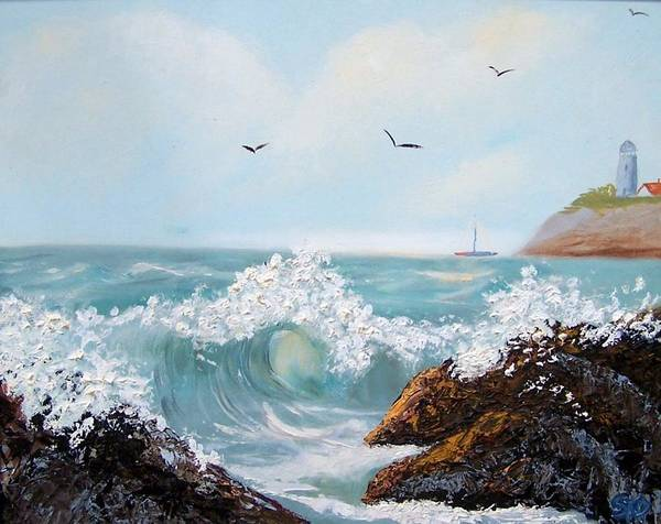 Painting - Rough Surf Sold by Susan Dehlinger