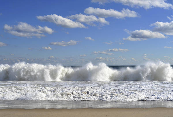 Down The Shore Photograph - Rough Surf Jersey Shore  by Terry DeLuco