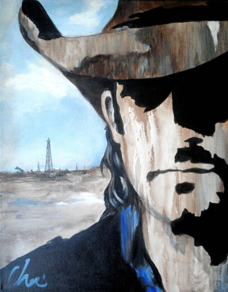 Oil Well Painting - Roughneck by Cheri Stripling
