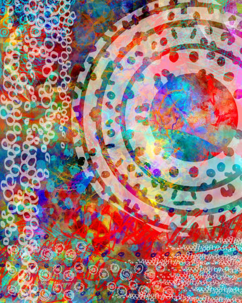 Beautiful Mixed Media - Round And Round by Moon Stumpp