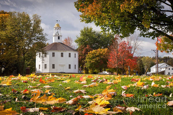 Photograph - Round Church In Autumn by Susan Cole Kelly