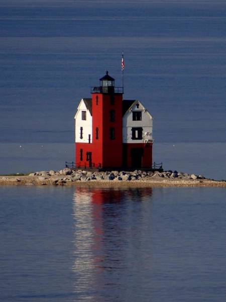 Photograph - Round Island Lighthouse In The Morning by Keith Stokes