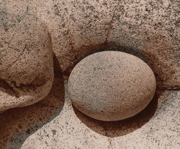 Wall Art - Photograph - Round Stone On Rock by Elspeth Ross