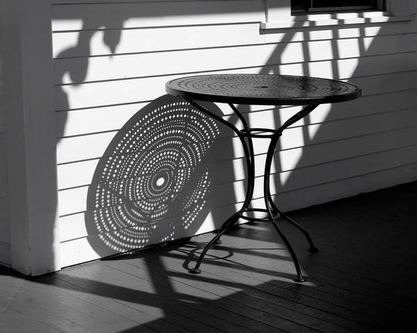 Photograph - Round Table Shadow by Polly Castor