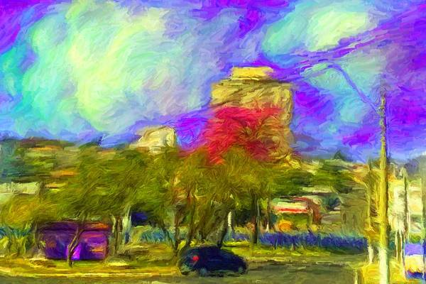 Roundabout In Franca Do Imperador  Art Print