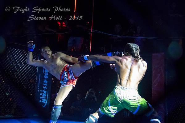 Kickboxing Photograph - Roundhouse Kick by Steven Holt