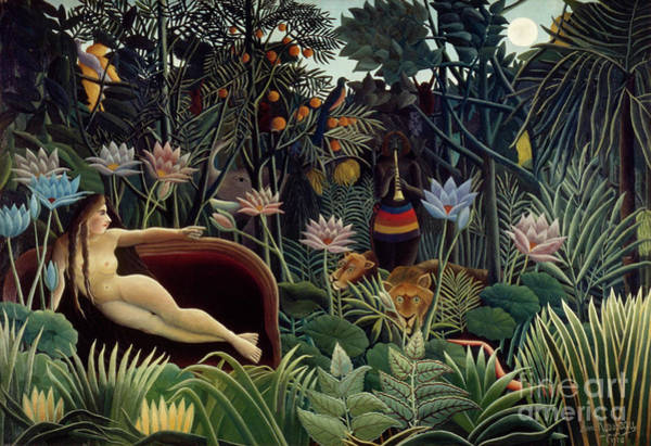 Turn Of The Century Painting - Rousseau, Dream, 1910 by Granger