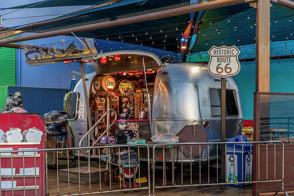 Photograph - Route 66 And Airstream On Tha Pier by Gene Parks