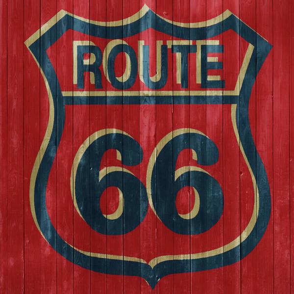 Getaway Mixed Media - Route 66 Barn Door by Dan Sproul