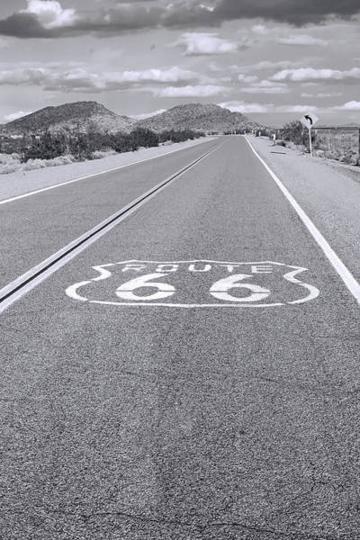 Historic Route 66 Photograph - Route 66 Black And White by Lutz Baar