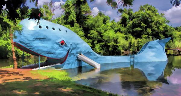 Painting - Route 66 Blue Whale Of Catoosa by Christopher Arndt