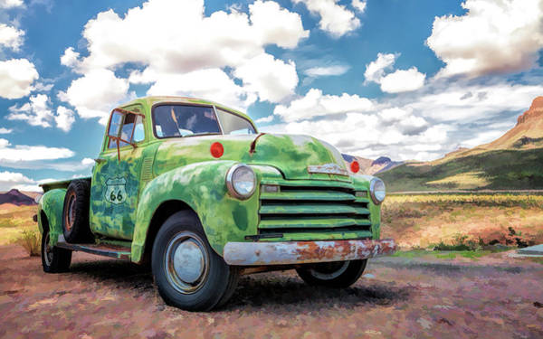 Painting - Route 66 Chevy Truck by Christopher Arndt