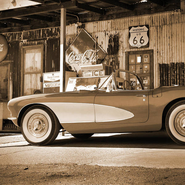 Wall Art - Photograph - Route 66 - Classic Vette by Mike McGlothlen