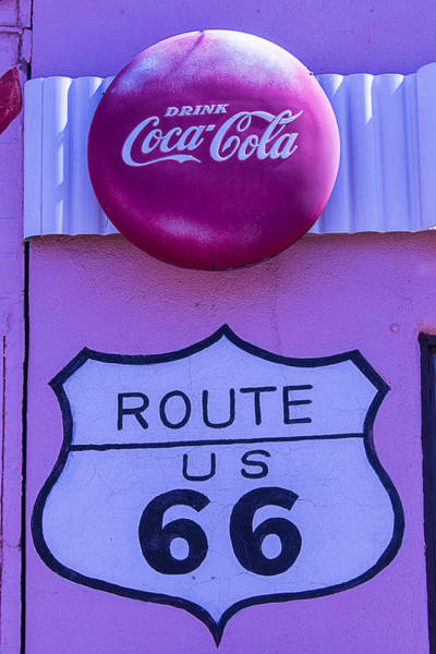 Wall Art - Photograph - Route 66 Coca Cola Sign by Garry Gay