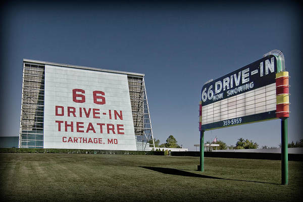 Photograph - Route 66 Drive-in Theatre by Patricia Montgomery