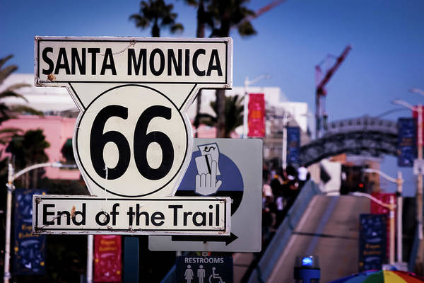 Route 66 End Of Trail Art Print