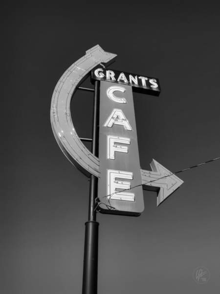 Photograph - Route 66 - Grants Cafe Bw by Lance Vaughn