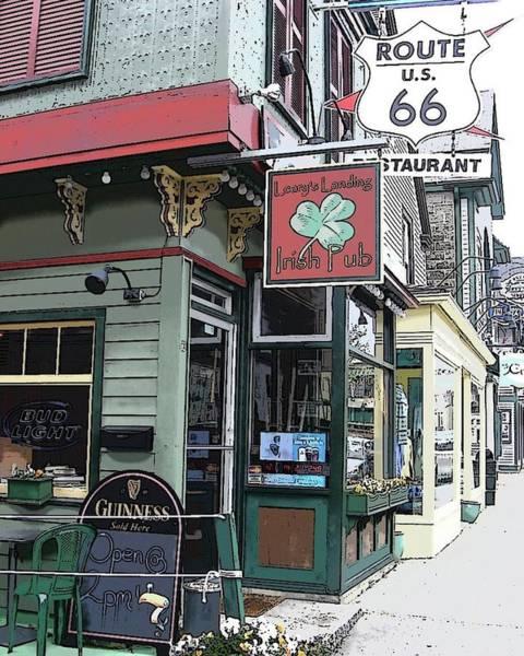 Bar Harbor Digital Art - Route 66 by Laurie Saucier
