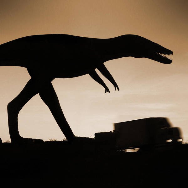 Wall Art - Photograph - Route 66 - Lost Dinosaur  by Mike McGlothlen