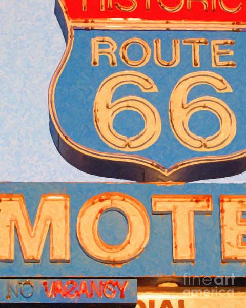 Wingsdomain Photograph - Route 66 Motel Seligman Arizona by Wingsdomain Art and Photography