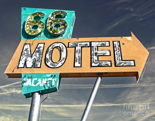 Painting - Route 66 Motel Sign by Gregory Dyer