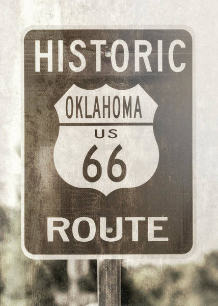 Wall Art - Photograph - Route 66 - Oklahoma by Stephen Stookey
