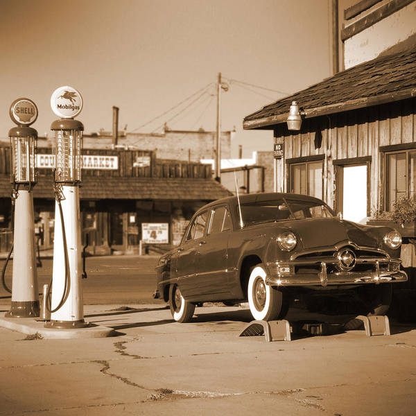 Wall Art - Photograph - Route 66 - Old Service Station by Mike McGlothlen