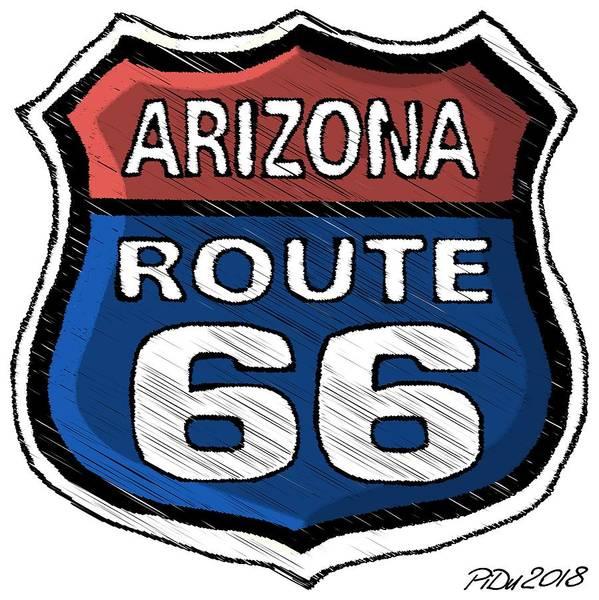 Digital Art - Route 66 by Piotr Dulski