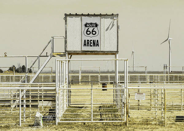 Wall Art - Photograph - Route 66 Ranch Rodeo Arena - #3 by Stephen Stookey