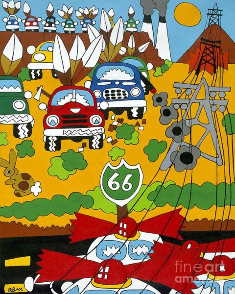 Painting - Route 66 by Rojax Art
