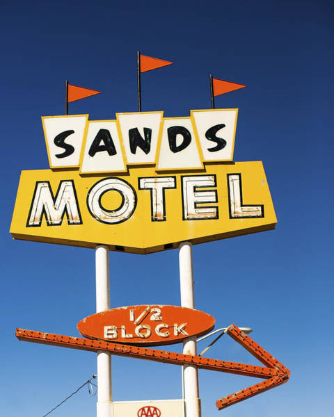 Photograph - Route 66 Sands Motel Vintage Sign by Gigi Ebert