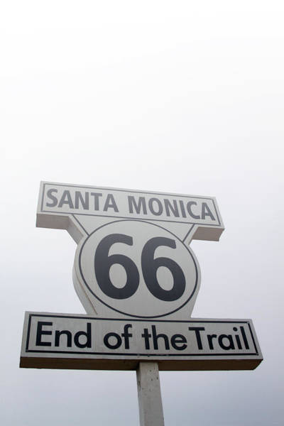 Trails Wall Art - Photograph - Route 66 Santa Monica- By Linda Woods by Linda Woods