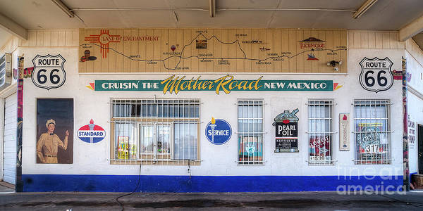 Mother Road Wall Art - Photograph - Route 66 Service Station by Twenty Two North Photography