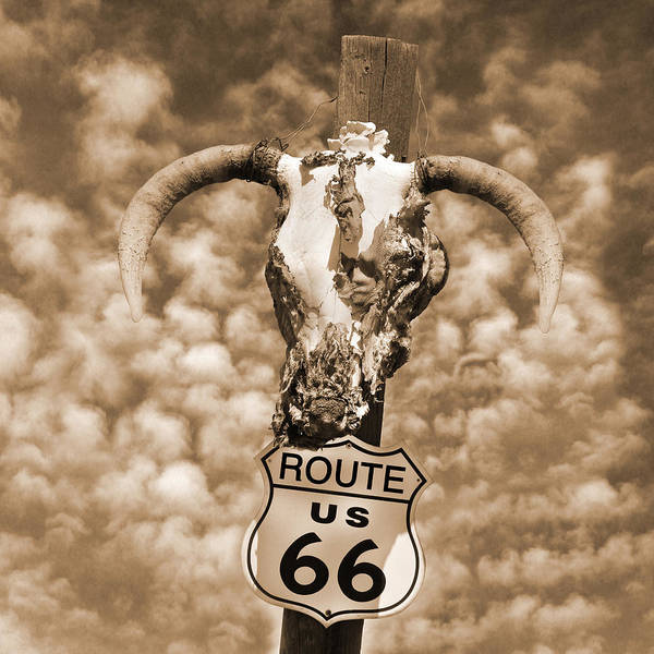 66 Photograph - Route 66 Sign by Mike McGlothlen