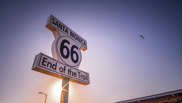 Pier 66 Photograph - Route 66 Sign - Santa Monica, Los Angeles - Travel Photography by Giuseppe Milo